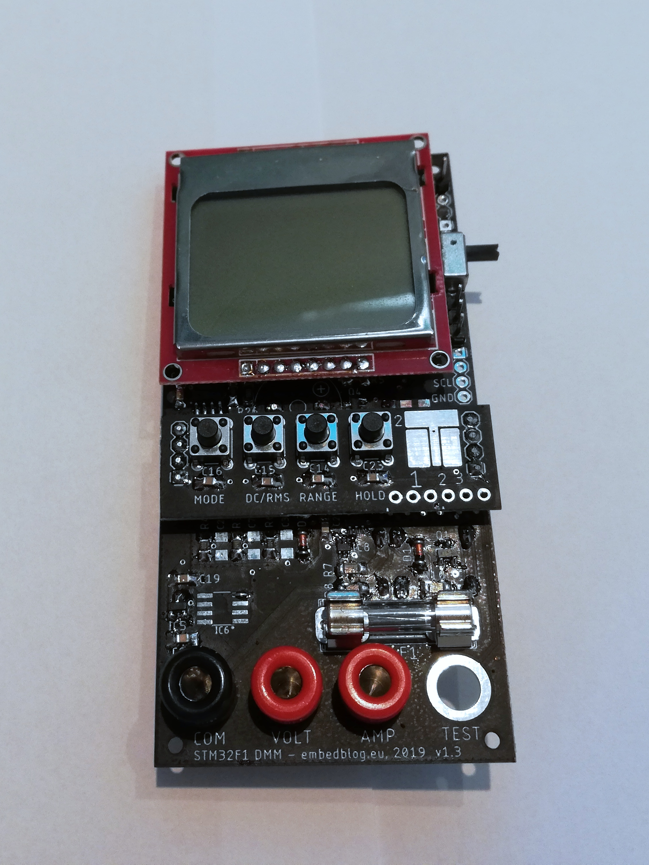 STM32 Open Source multimeter – revision 1.3